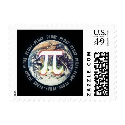 Día del pi - franqueo timbre postal
