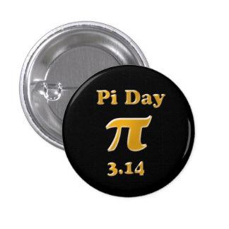 Día del pi pin redondo de 1 pulgada