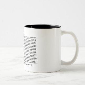 Día del pi tazas de café