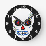 Día del reloj de pared muerto del cráneo