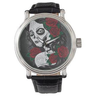 Día del reloj negro muerto con la correa del