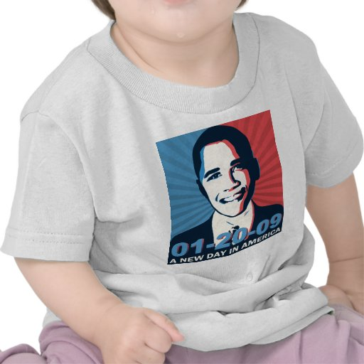 Día del retrato de la inauguración de Obama nuevo  Camisetas