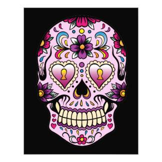 Día del rosa muerto del cráneo del azúcar fotografía