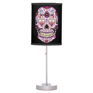 Día del rosa muerto del cráneo del azúcar lámpara de escritorio