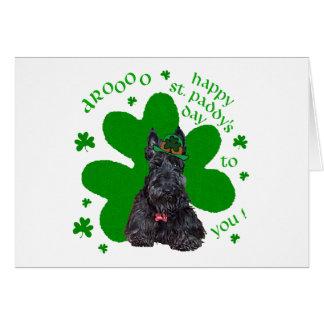 Día del St. Paddys de Terrier del escocés Tarjeta De Felicitación