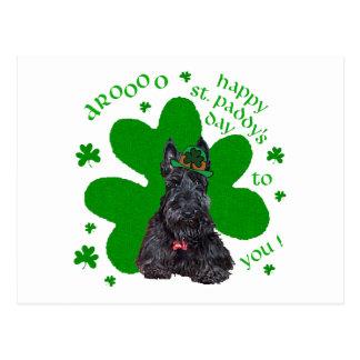 Día del St. Paddys de Terrier del escocés Tarjeta Postal