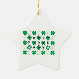 Día del St. Pat feliz Ornamento Para Arbol De Navidad