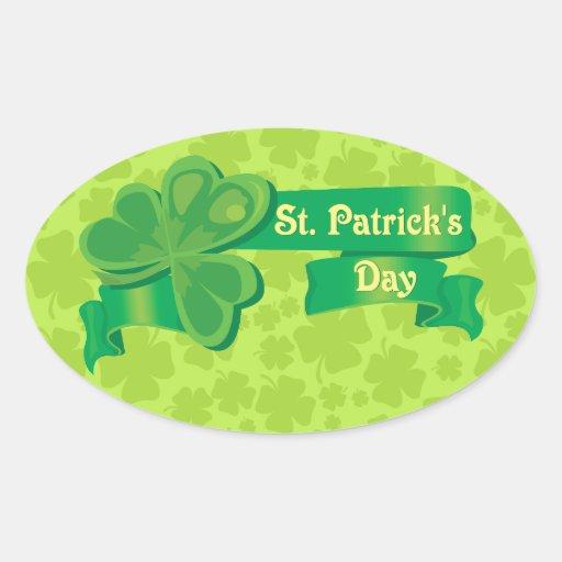 ¡Día del St. Patricks! Calcomanías De Ovaladas
