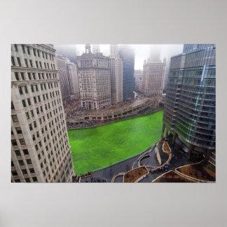 Día del St. Patricks, Chicago Póster
