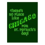 Día del St Patricks de CHICAGO Postal