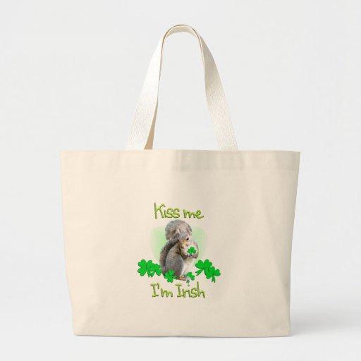Día del St. Patricks de la ardilla Bolsas De Mano