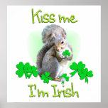 Día del St. Patricks de la ardilla Impresiones