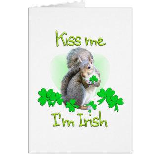 Día del St. Patricks de la ardilla Tarjeta