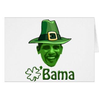 Día del St Patricks de Obama Tarjeta