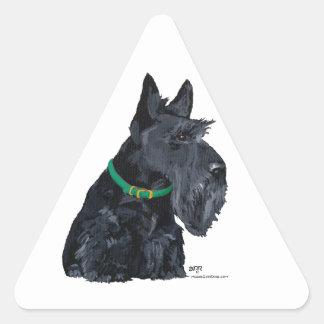 Día del St Patricks de Terrier del escocés Colcomanias De Triangulo