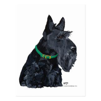 Día del St Patricks de Terrier del escocés Postal