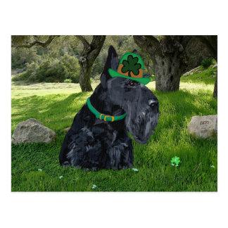 Día del St Patricks de Terrier del escocés Postales