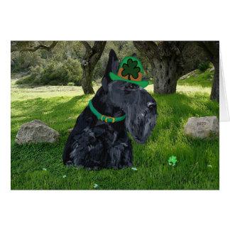 Día del St Patricks de Terrier del escocés Tarjeta De Felicitación