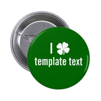 Día del St. Patricks del personalizado Pins