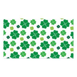 Día del St Patricks del trébol de cuatro hojas Tarjetas De Visita