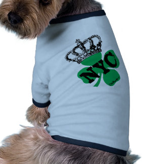 Día del St. Patricks del trébol de NYC New York Ci Camisa De Perro
