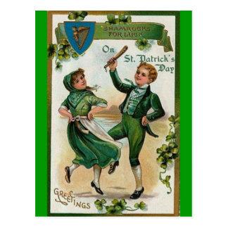 Día del St Patricks del vintage Postal