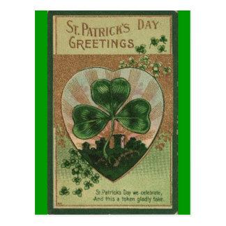 Día del St Patricks del vintage Postales