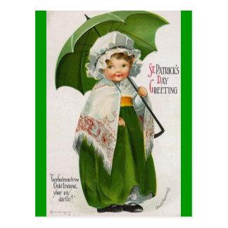 Día del St Patricks del vintage Tarjeta Postal