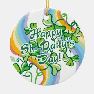 Día del St Patty feliz Adorno De Navidad