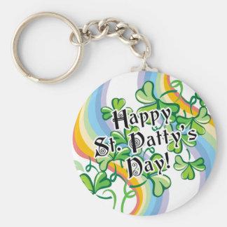 Día del St Patty feliz Llavero Personalizado