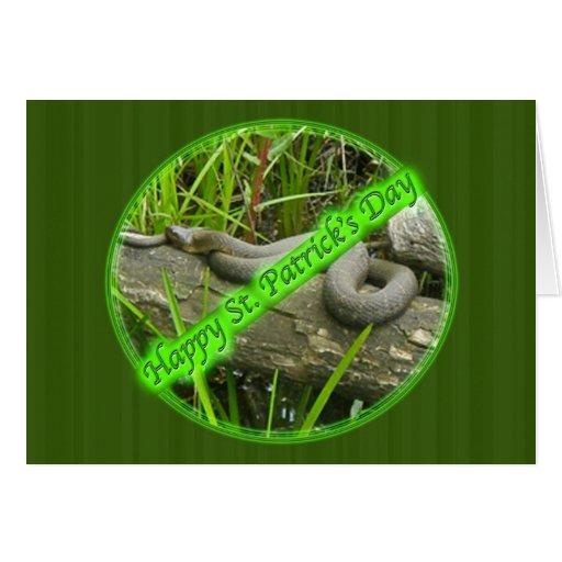 Día del St. Patty feliz ningunas serpientes Felicitación
