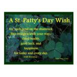 Día del St. Patty feliz - trébol (1) - postal