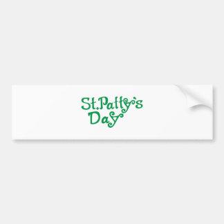 Día del St. Pattys Pegatina Para Auto