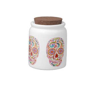 Día del tarro del caramelo de los cráneos del azúc jarra para caramelo