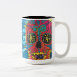 Día del tatuaje tribal del arco iris de la taza de dos tonos