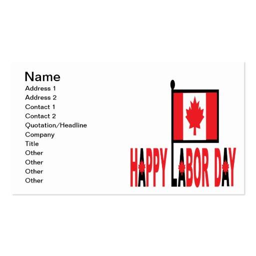 Día del Trabajo canadiense Tarjetas De Negocios