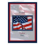 Día del Trabajo con la tarjeta de las banderas