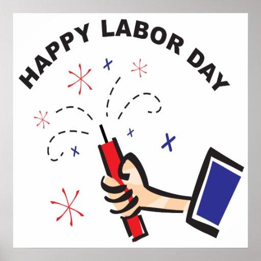 Día del Trabajo feliz Póster