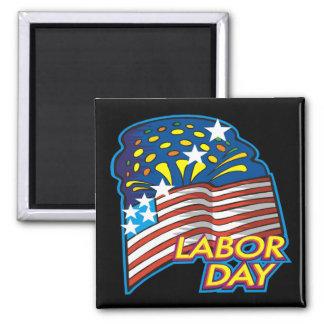 Día del Trabajo Imán Cuadrado