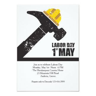 Día del Trabajo invitación del 1 de mayo
