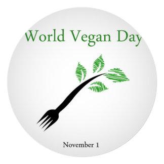 """Día del vegano del mundo invitación 5.25"""" x 5.25"""""""