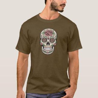 Día del vintage del cráneo muerto del azúcar playera