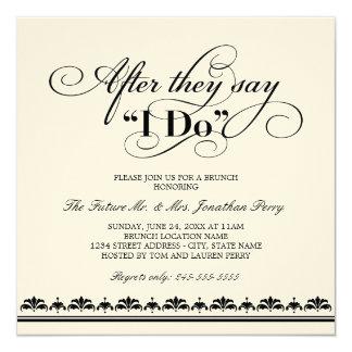 """Día después de casar votos de boda de la invitación 5.25"""" x 5.25"""""""