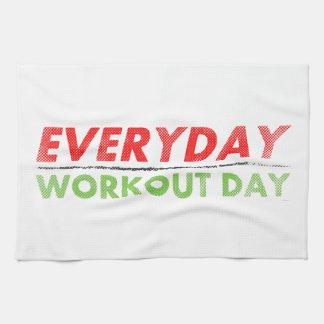 Día diario del entrenamiento toallas