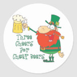 Día divertido del St. Patricks de la cerveza Pegatinas