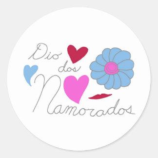 Dia Dos Namorados 2011 Round Sticker