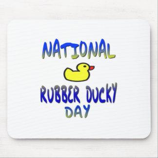 Día Ducky de goma nacional Alfombrillas De Ratón