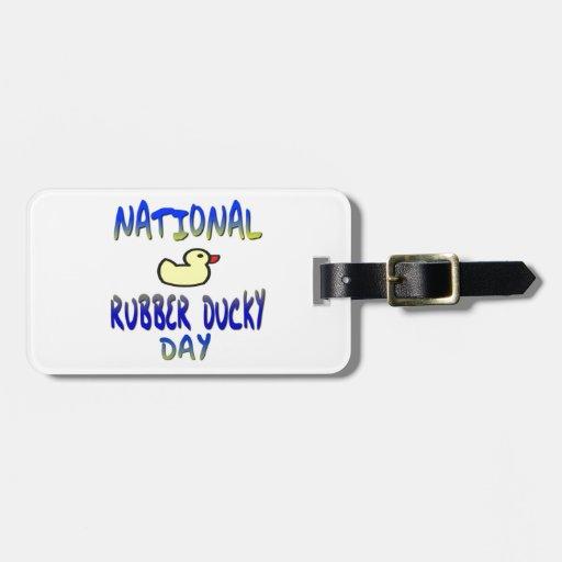 Día Ducky de goma nacional Etiquetas De Maletas