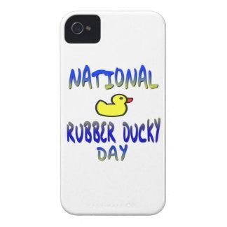 Día Ducky de goma nacional iPhone 4 Fundas