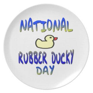 Día Ducky de goma nacional Platos De Comidas